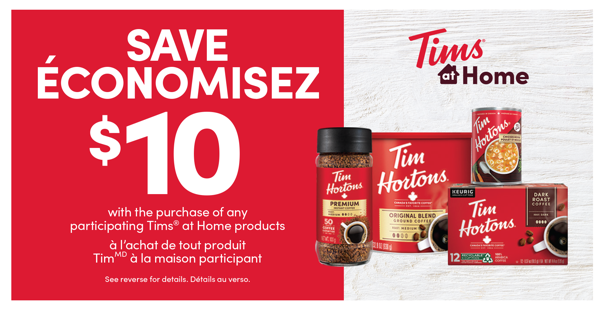 $10 Tims® at Home coupon