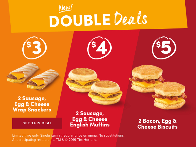 New! DOUBLE Deals.